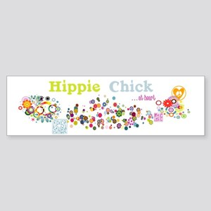 Hippie Chick at Heart Sticker (Bumper)